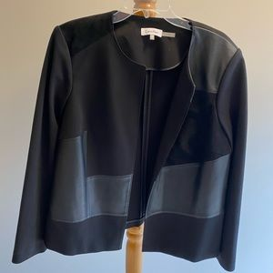 Calvin Klein open front black jacket